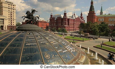 Red Square and Kremlin, aerial view