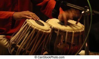 Tabla - An Indian musical instrument, amazing drumming