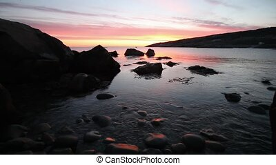 Atlantic Ocean Sunrise - Atlantic Canada coastline at...
