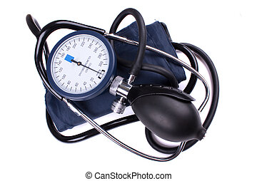 Manual blood pressure medical tool isolated