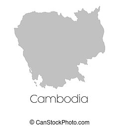 Map of the country of Cambodia - A Map of the country of...