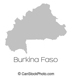 Map of the country of Burkina Faso - A Map of the country of...