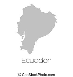 Map of the country of Ecuador - A Map of the country of...