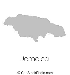 Map of the country of Jamaica - A Map of the country of...