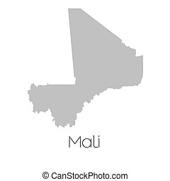 Map of the country of Mali - A Map of the country of Mali