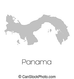 Map of the country of Panama - A Map of the country of...