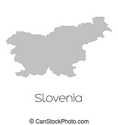Map of the country of Slovenia - A Map of the country of...