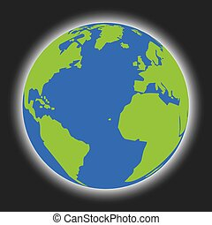 Isolated Illustration of the Earth