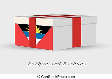 Gift Box with the flag of Antigua and Barbuda - A Gift Box...