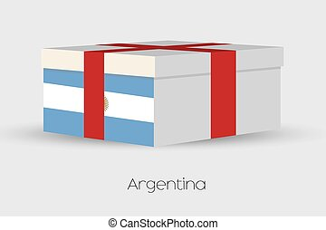 Gift Box with the flag of Argentina