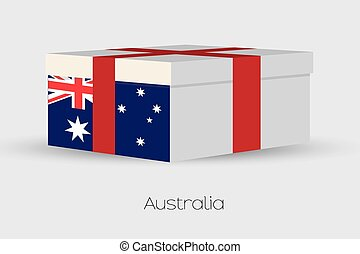 Gift Box with the flag of Australia