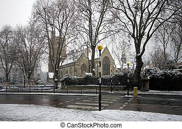 St Mary\'s Church, Lambeth, England - St Marys church, and...