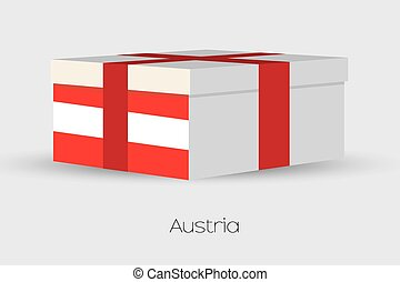 Gift Box with the flag of Austria