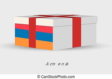 Gift Box with the flag of Armenia - A Gift Box with the flag...