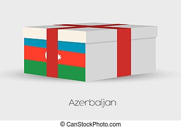 Gift Box with the flag of Azerbaijan