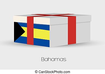 Gift Box with the flag of Bahamas
