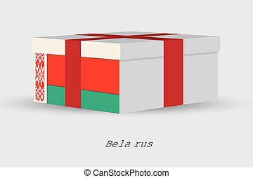 Gift Box with the flag of Belarus - A Gift Box with the flag...