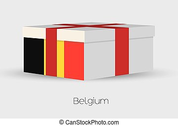 Gift Box with the flag of Belgium