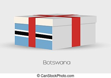 Gift Box with the flag of Botswana - A Gift Box with the...