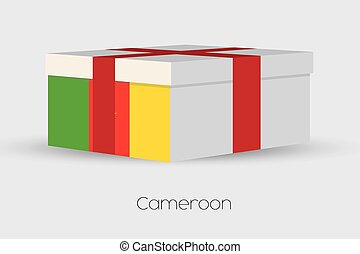 Gift Box with the flag of Cameroon - A Gift Box with the...