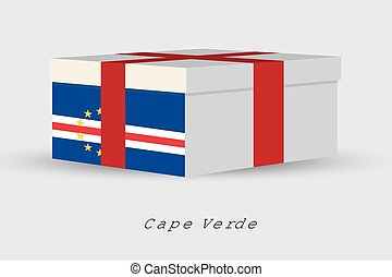 Gift Box with the flag of Cape Verde