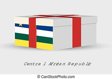 Gift Box with the flag of Central African Republic - A Gift...
