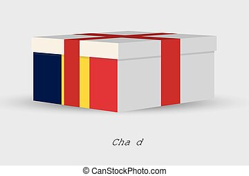 Gift Box with the flag of Chad - A Gift Box with the flag of...