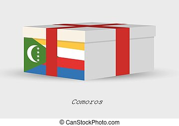 Gift Box with the flag of Comoros - A Gift Box with the flag...