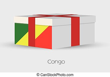 Gift Box with the flag of Congo