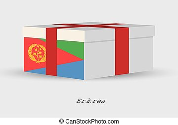 Gift Box with the flag of Eritrea - A Gift Box with the flag...