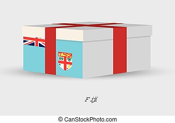 Gift Box with the flag of Fiji - A Gift Box with the flag of...