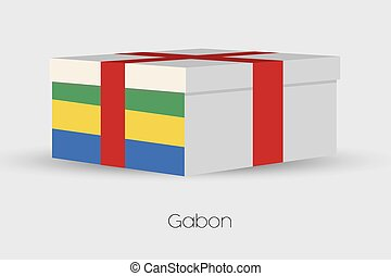 Gift Box with the flag of Gabon - A Gift Box with the flag...