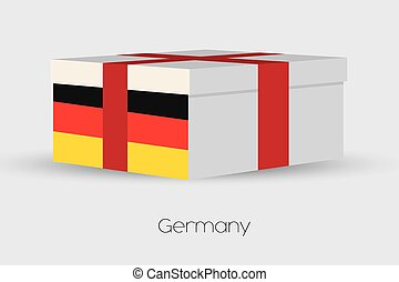 Gift Box with the flag of Germany