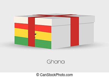 Gift Box with the flag of Ghana - A Gift Box with the flag...