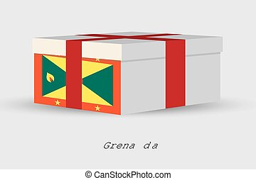 Gift Box with the flag of Grenada - A Gift Box with the flag...