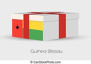 Gift Box with the flag of Guinea Bissau - A Gift Box with...