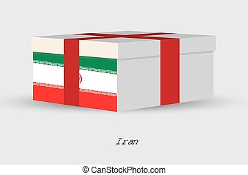 Gift Box with the flag of Iran - A Gift Box with the flag of...