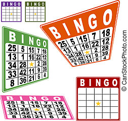 BINGO Card Set - Bingo card set isolated on a white...