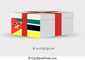 Gift Box with the flag of Mozambique - A Gift Box with the...