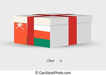 Gift Box with the flag of Oman - A Gift Box with the flag of...