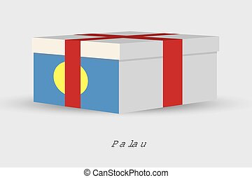 Gift Box with the flag of Palau - A Gift Box with the flag...