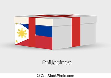 Gift Box with the flag of Philippines - A Gift Box with the...
