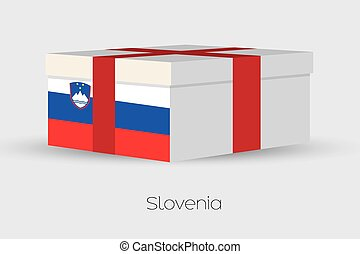 Gift Box with the flag of Slovenia - A Gift Box with the...