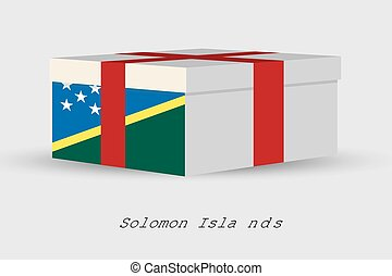 Gift Box with the flag of Solomon Islands - A Gift Box with...