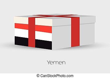 Gift Box with the flag of Yemen - A Gift Box with the flag...