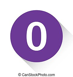 Purple Icon Isolated on a White Background - 0