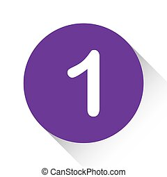 Purple Icon Isolated on a White Background - 1