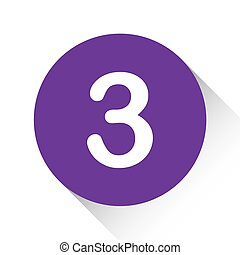 Purple Icon Isolated on a White Background - 3