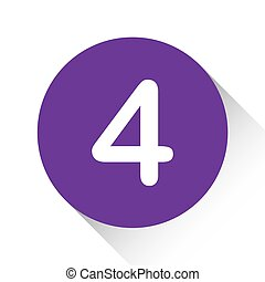 Purple Icon Isolated on a White Background - 4