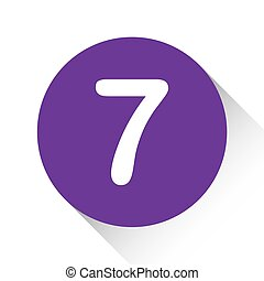 Purple Icon Isolated on a White Background - 7
